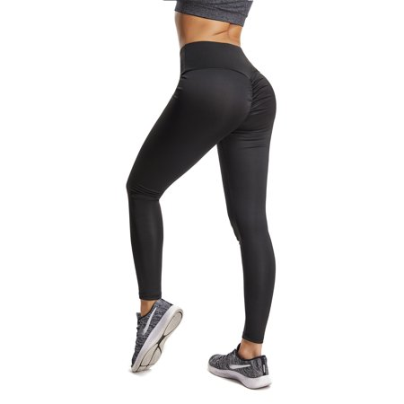 a0d3a8ab84f FITTOO - FITTOO Activewear Yoga Leggings, Women Sexy Ruched Butt High Waist Yoga  Pants Butt Lift Stretchy Workout Gym Leggings - Walmart.com