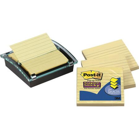 Post-it Pop-up Notes Super Sticky Pop-up Note Dispenser/Value Pack, 4 x 4 Self-Stick Notes, Black/Clear -MMMDS440SSVP