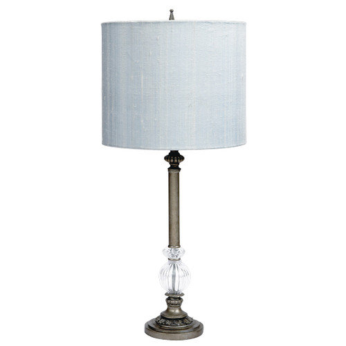 Jubilee Collection Glass Ball 27.5'' H Table Lamp with Drum Shade