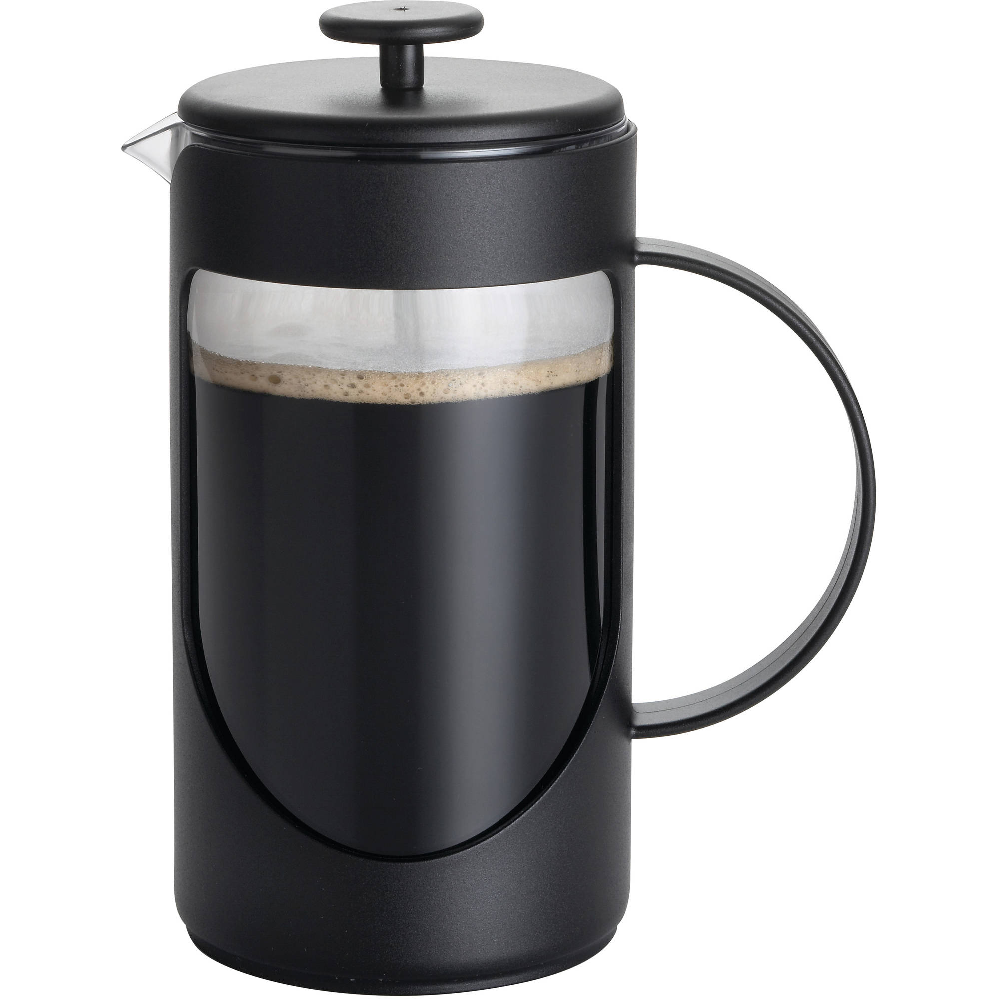 BonJour Coffee Unbreakable Plastic French Press, 8-Cup, Ami-Matin, Multicolor
