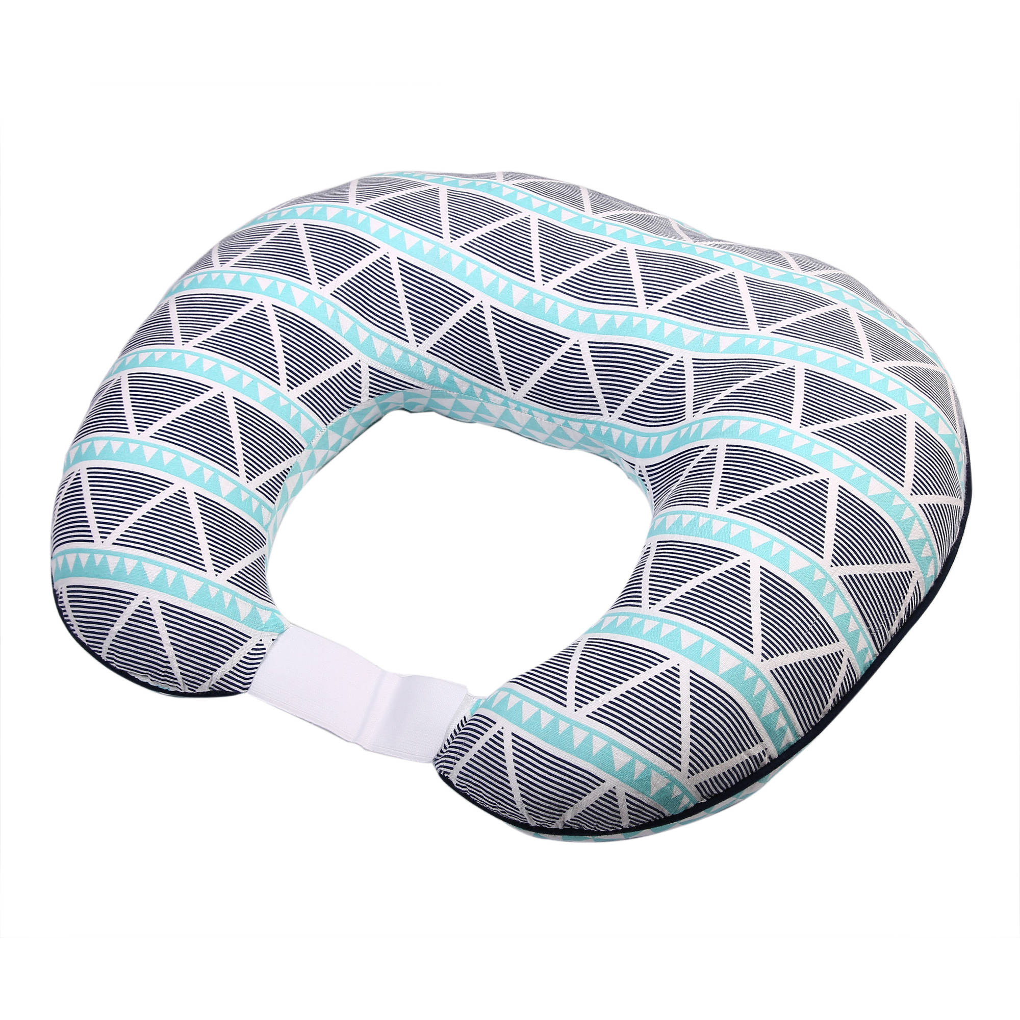 Bacati - Liam Aztec Aqua/Navy Large Triangles Muslin Nursing Pillow Cover fits perfectly only Bacati - Hugster Nursing Pillow