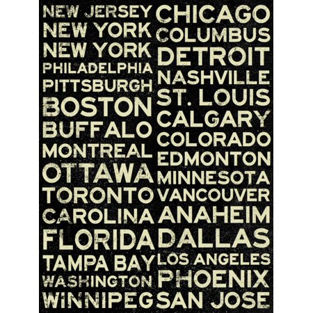 National Hockey League Cities Vintage Style Print Wall Art Walmart Com