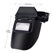 Kritne Welder Mask, Pro Solar AUTO Darkening Welding Helmet Tig Mask Grinding Welder Protective Gear, Leather Welding Protect Mask