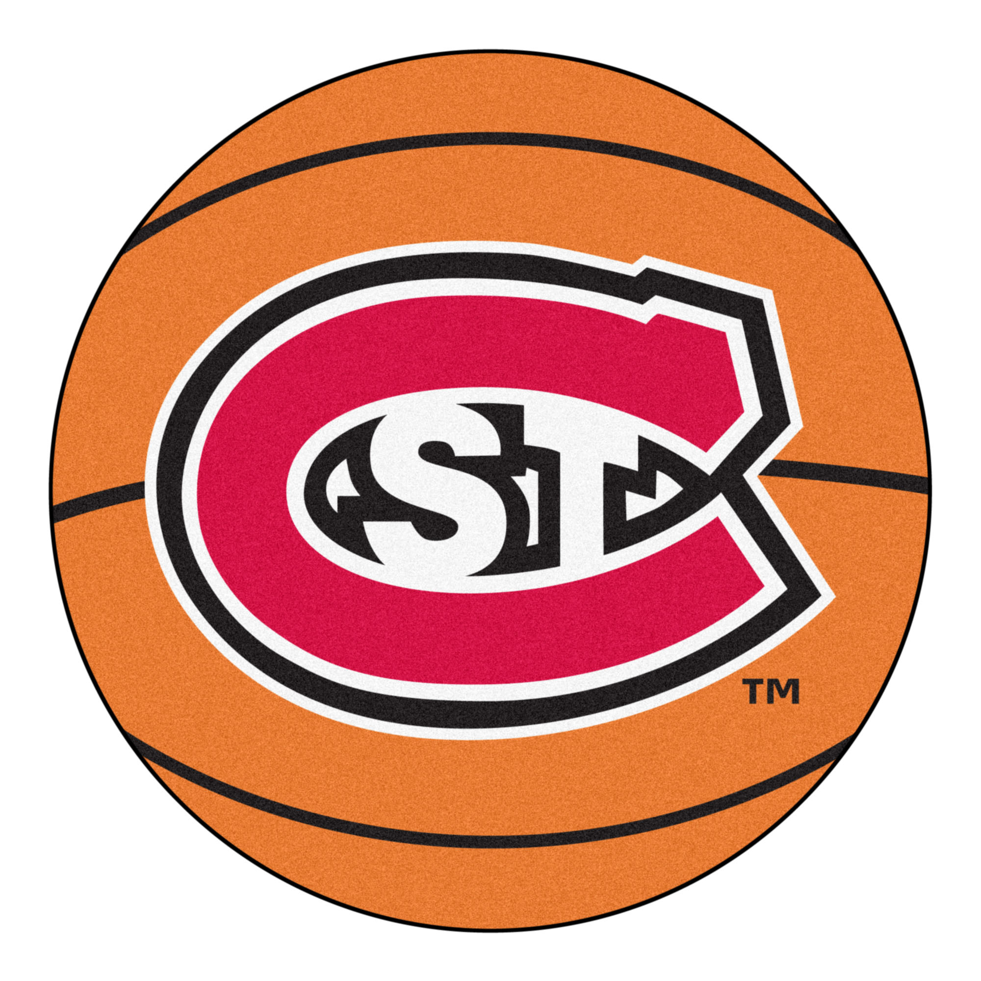 2285 Fanmats College NCAA St. Cloud State University 27 Inch diameter Nylon Face durable Non-skid chromojet-printed washable Basketball Mat