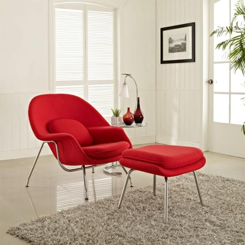 Modway W Lounge Chair and Ottoman