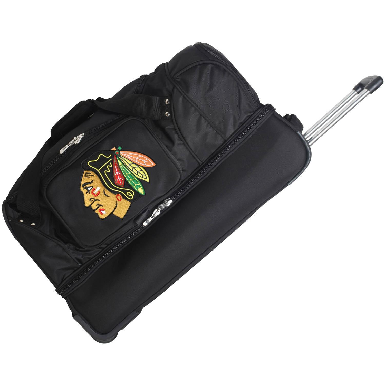 "Denco NHL 27"" Rolling Drop Bottom Duffel, Chicago Blackhawks"