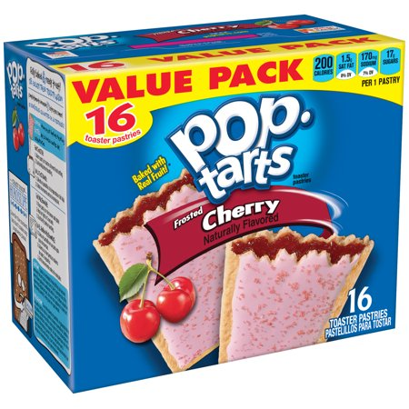 - (3 Pack) Kellogg's Pop-Tarts Breakfast Toaster Pastries, Frosted Cherry Flavored, Value Pack, 29.3 oz 16 Ct