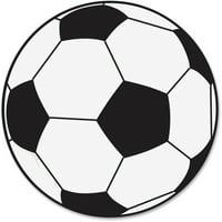 Ashley, ASH10032, Soccer Ball Magnetic Whitebrd Eraser, 1 Each, Black,White