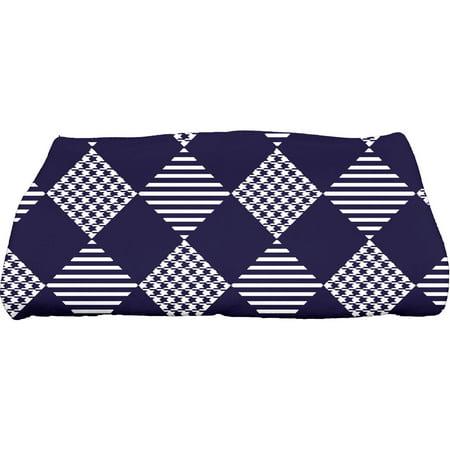 Simply Daisy 28   X 58   Check It Twice Geometric Print Bath Towel
