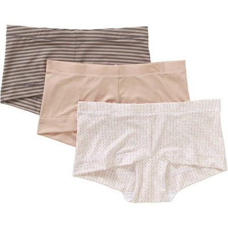 5ee99a892f53 Maidenform - Sweet Nothings Women's Boyshort Panties - 3 Pack - Walmart.com