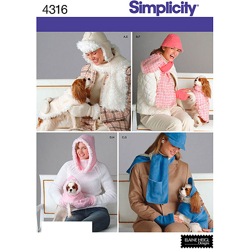 Simplicity Pattern Misses' and Dog Accessories, All Sizes