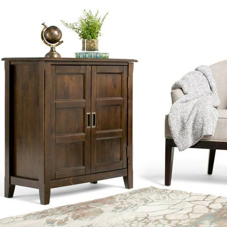 Simpli Home Burlington Low Storage Cabinet - Party Store Burlington Ma