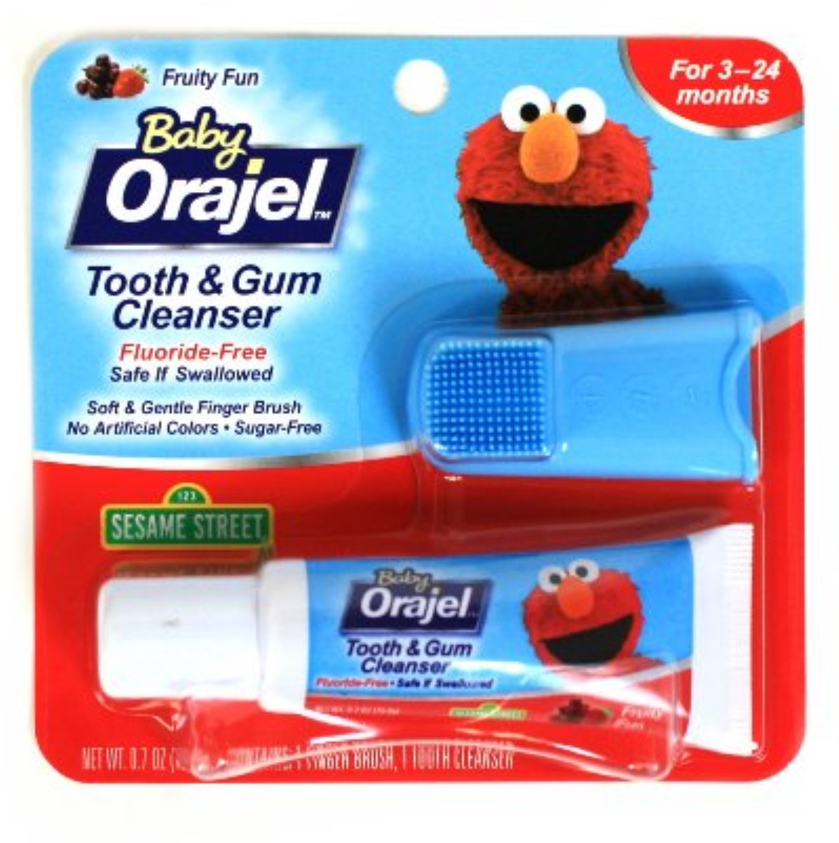 Baby Orajel Tooth & Gum Cleanser Mixed Fruit 0.70 oz (Pack of 3)