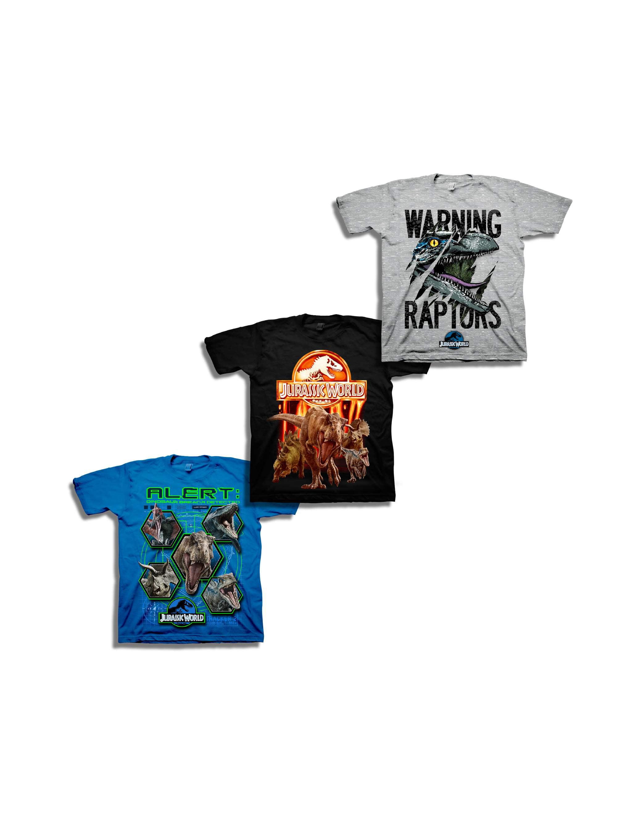Short Sleeve Jurassic Graphic Tee 3 Pack Value Bundle (Little Boys & Big Boys)