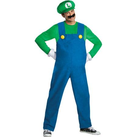 Morris Costumes Mens Mario Luigi Deluxe Adult 50-52 Halloween Costume