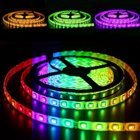 Solarphy 32 8ft 10m Rgb Led Strip Light Bluetooth Smartphone App Controlled 5050 Led Light Strip 600 Leds Waterproof Rgb Multicolored Led Lights Kit