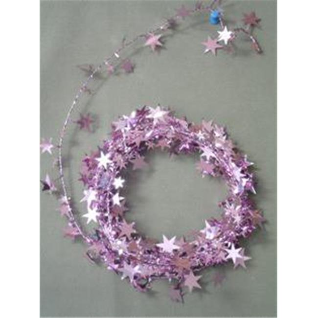 18 ft. Pink Star Wire Garland - Pack of 12
