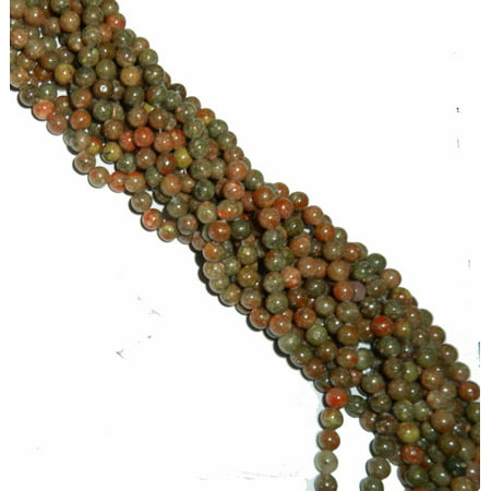 8mm Epidot Jasper Round, Loose Beads, 40cm 15 inch Gemstone