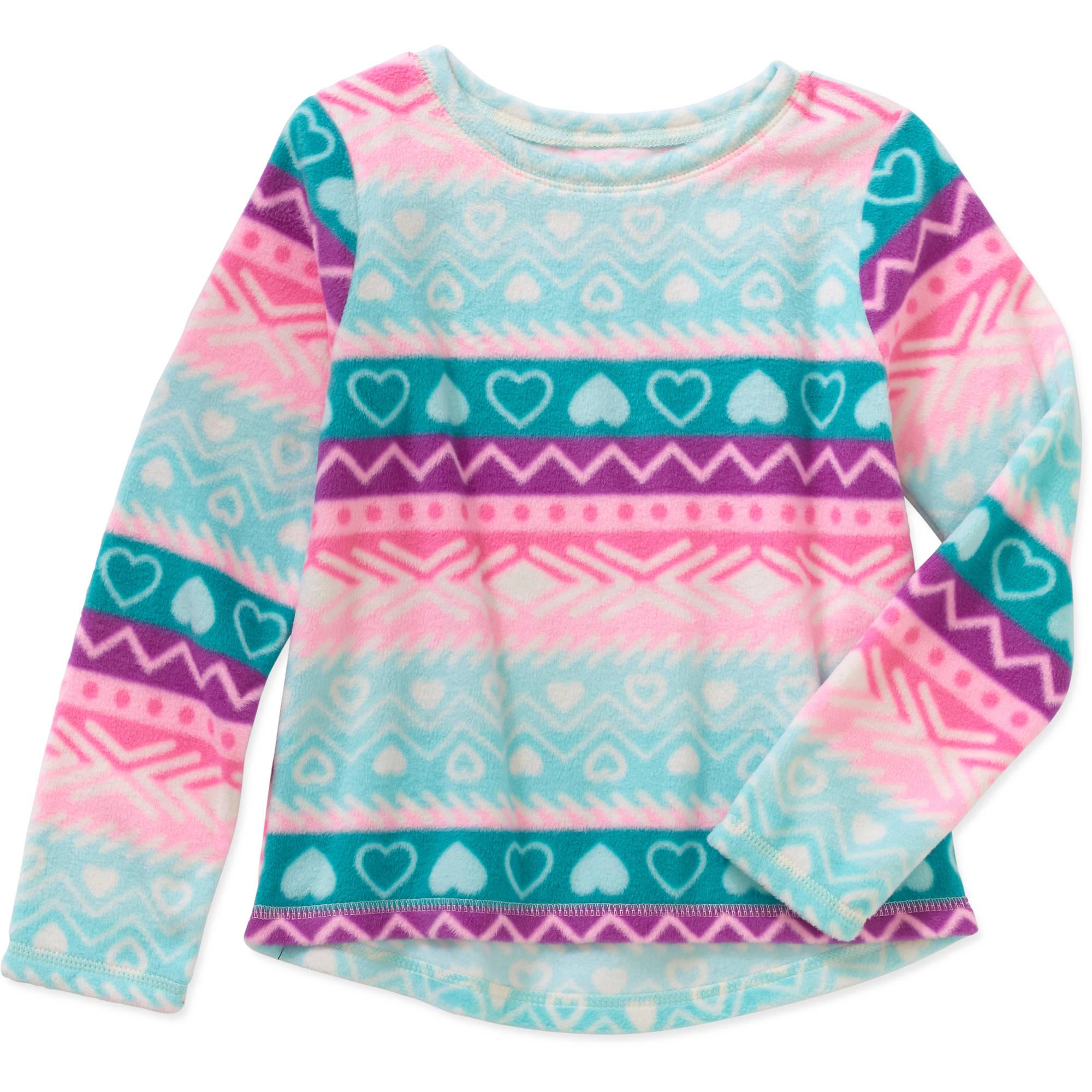 365 Kids from Garanimals Girls' Long Sleeve Print Polar Fleece Top