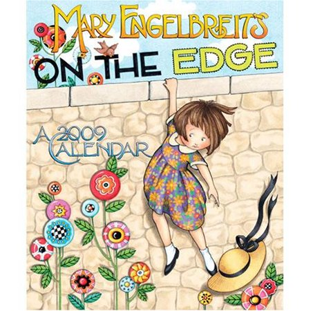 Mary Engelbreit On the Edge 2009 Wall Calendar By Andrews McMeel Ship from US