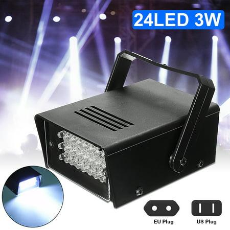 Mini LED Stage Light 24 High-Power Strobe Flash Light For Halloween Club Dj Disco Bar Stage House Party Lighting,3W 220V](Halloween Club Party London)