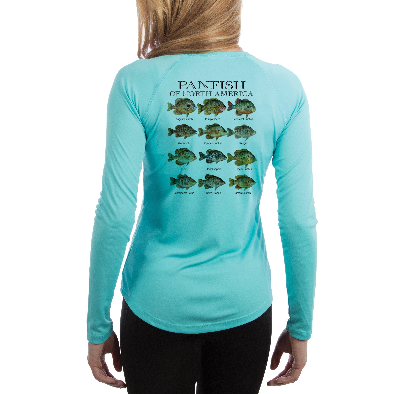 Panfish Womens Upf 50 Uv Sun Protection Long Sleeve T Shirt Sunfish Tshirts Shirts And Custom Clothing