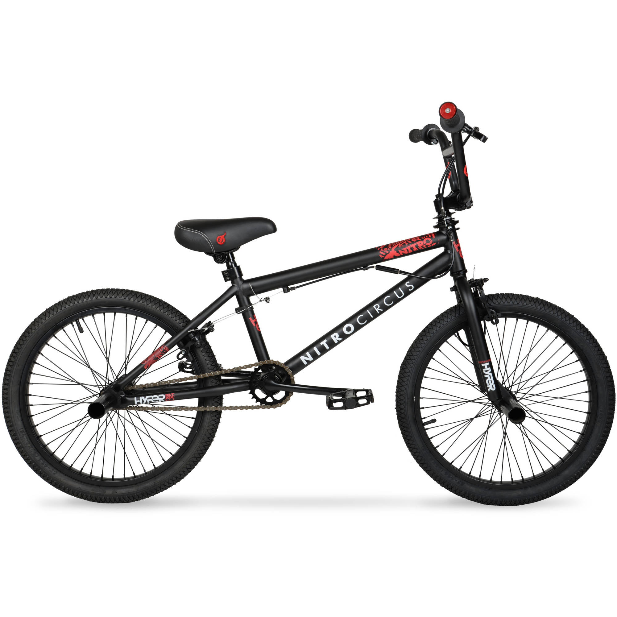 "Hyper 20"" Nitro Circus BMX Kids' Bike, Matte Black by Hyper Bicylces"