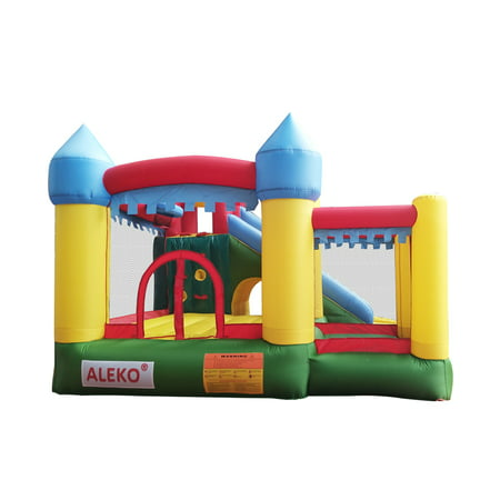 ALEKO BHPOOL Commercial Inflatable Fun Slide Bounce House with Ball Pit and Blower