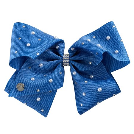 JoJo Siwa Large Cheer Hair Bow (Denim Pearl) - Halloween Cheer Bows