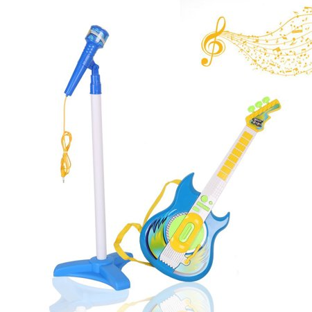 KARMAS PRODUCT Kids Music Guitar Players Karaoke Toy with Micphone for Boy (Kids Toy Guitar)
