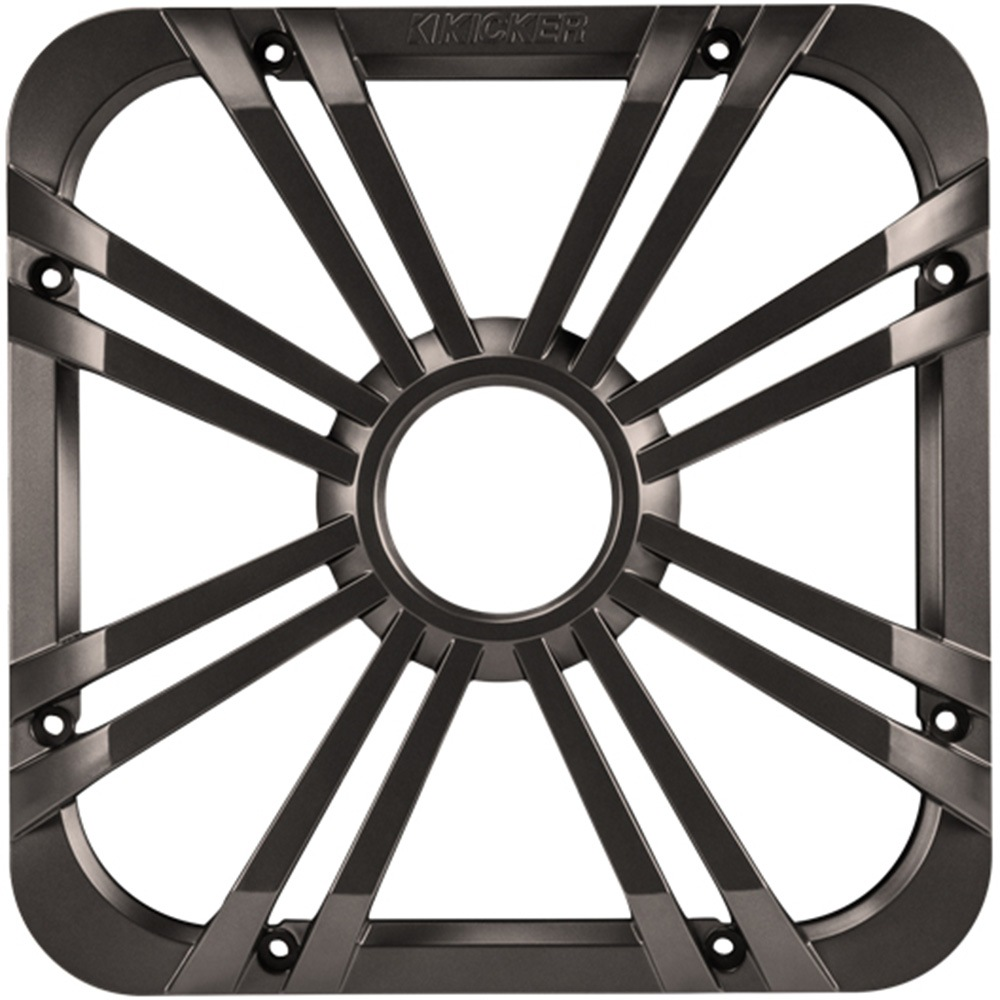 Kicker 11L710GLC LED, Charcoal 10-Inch Square Subwoofer Grille for 11S10L7