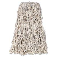 "Rubbermaid Commercial Economy Cut-End Cotton Wet Mop Head, 24oz, 1"" Band, White, 12/Carton -RCPV118"