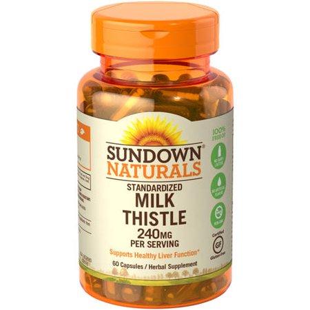 Sundown Naturals Standardized Milk Thistle Capsules, 240 Mg, 60 Ct