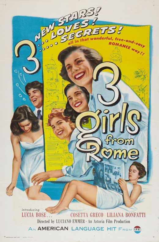 Three Girls from Rome POSTER Movie (27x40) by Pop Culture Graphics