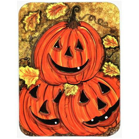Stack of Pumpkins Jack-o-laterns Glass Cutting Board