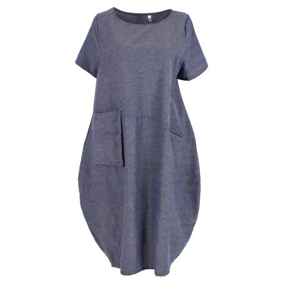 824f07a6515 EFINNY - EFINNY Women s Cotton Linen Loose Ethnic Beach Dress - Walmart.com
