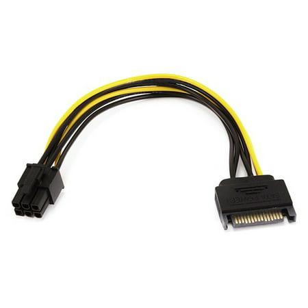 Monoprice 8-inch SATA 15pin to 6pin PCI Express Card Power