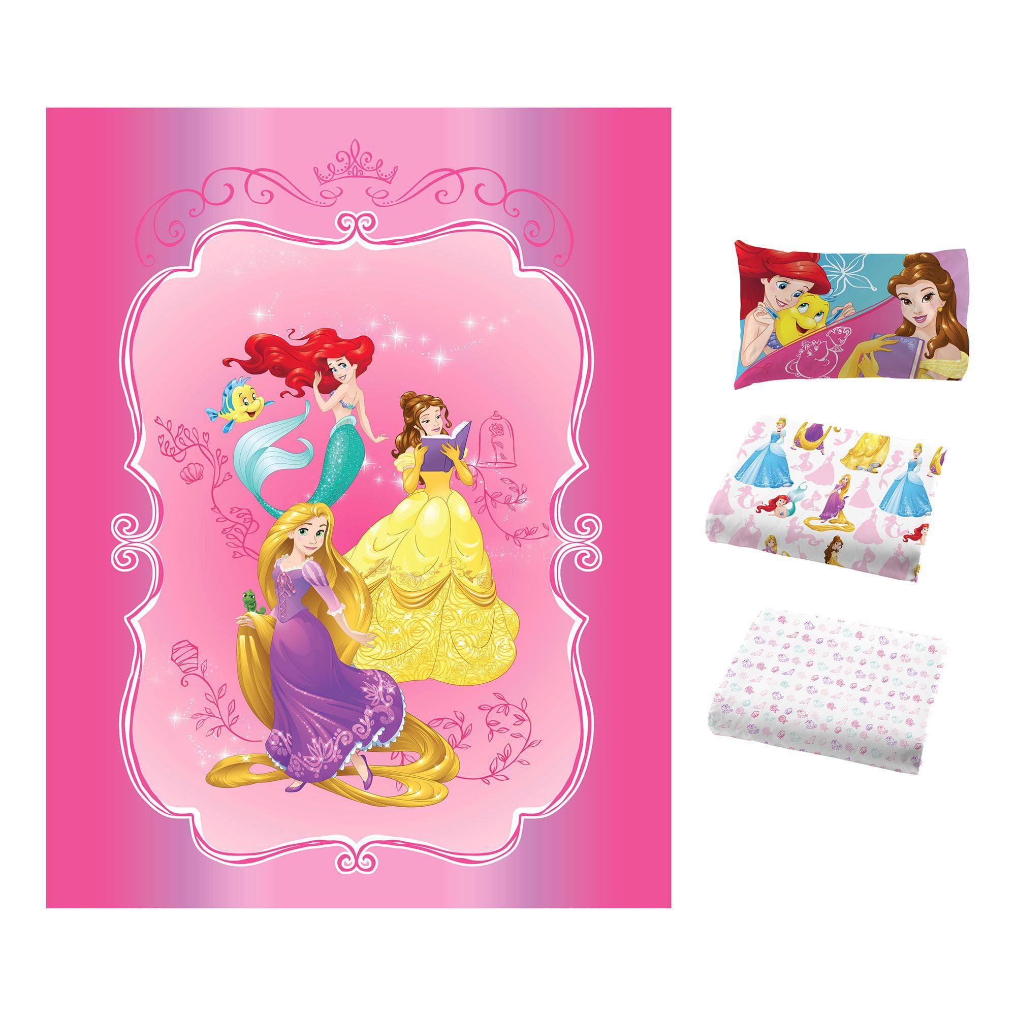 8c654d0f5fe535 Disney s Princess Bedazzling Princess Bed in Bag Bedding Set - Walmart.com