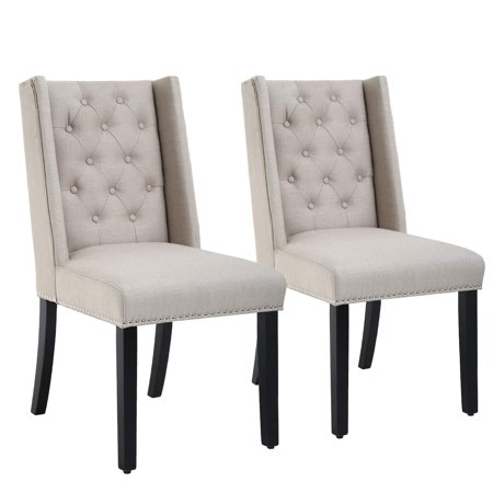 Dining Chairs Set of 2 Dining Room Chairs for Living Room Kitchen Chairs Parsons Chair Mid Century Modern Chair upholstered for Restaurant Home ()
