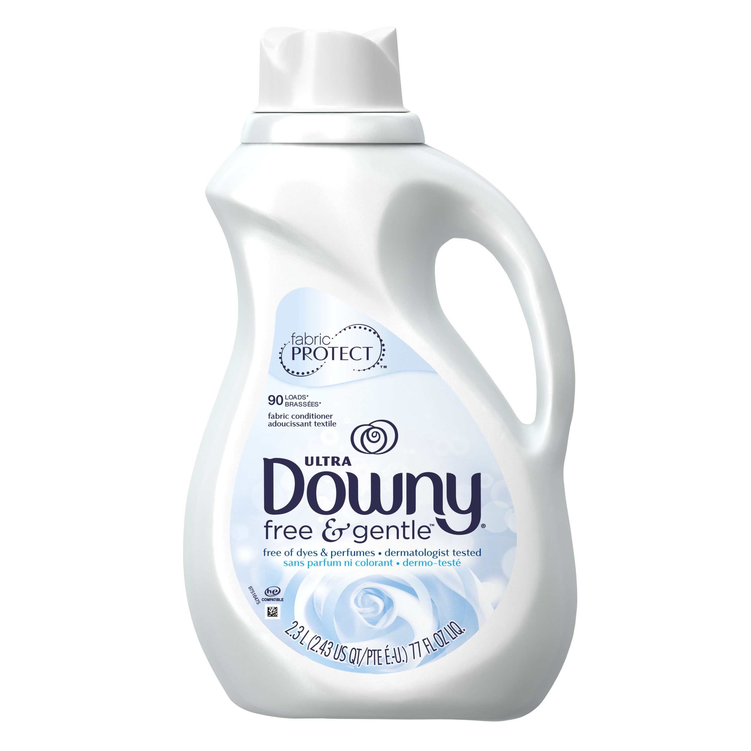 Downy Ultra Fabric Softener, Free & Gentle, 77 Oz