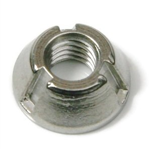 Tamper Proof Tri-Groove Nuts - 316 Stainless Steel size: 5/16