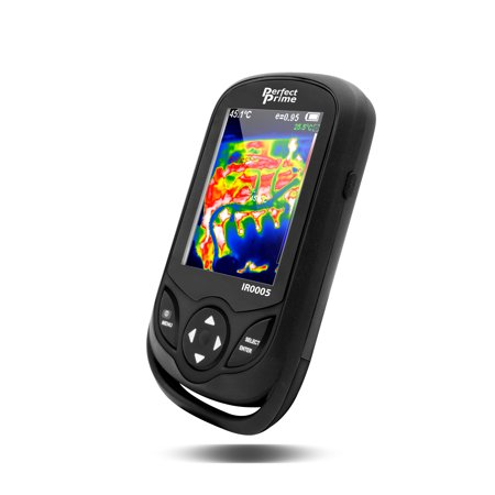 PerfectPrime IR0005, Infrared (IR) Thermal Imager & Visible Light Camera with IR Resolution 35,200 Pixels & Temperature Range from -4 ~ 572°F, 9 Hz Refresh Rate