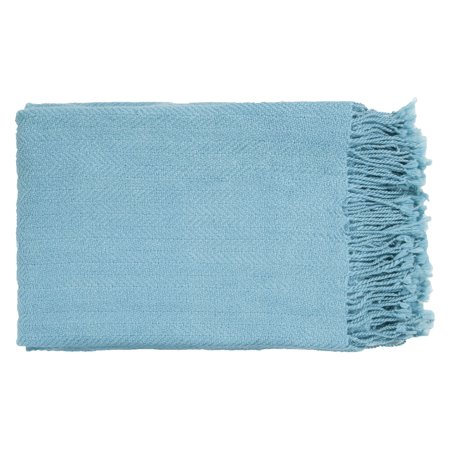 Surya Turner Turquoise Throw - 50 x 60 in.