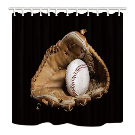 WOPOP Sports Nostalgic Leather Retro Baseballs In Black Polyester