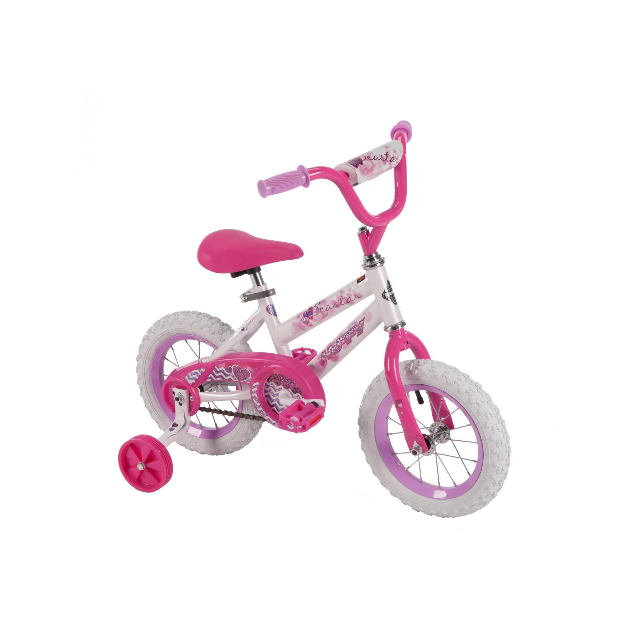"""12"""" Huffy Girls' Sea Star Bike, White"""