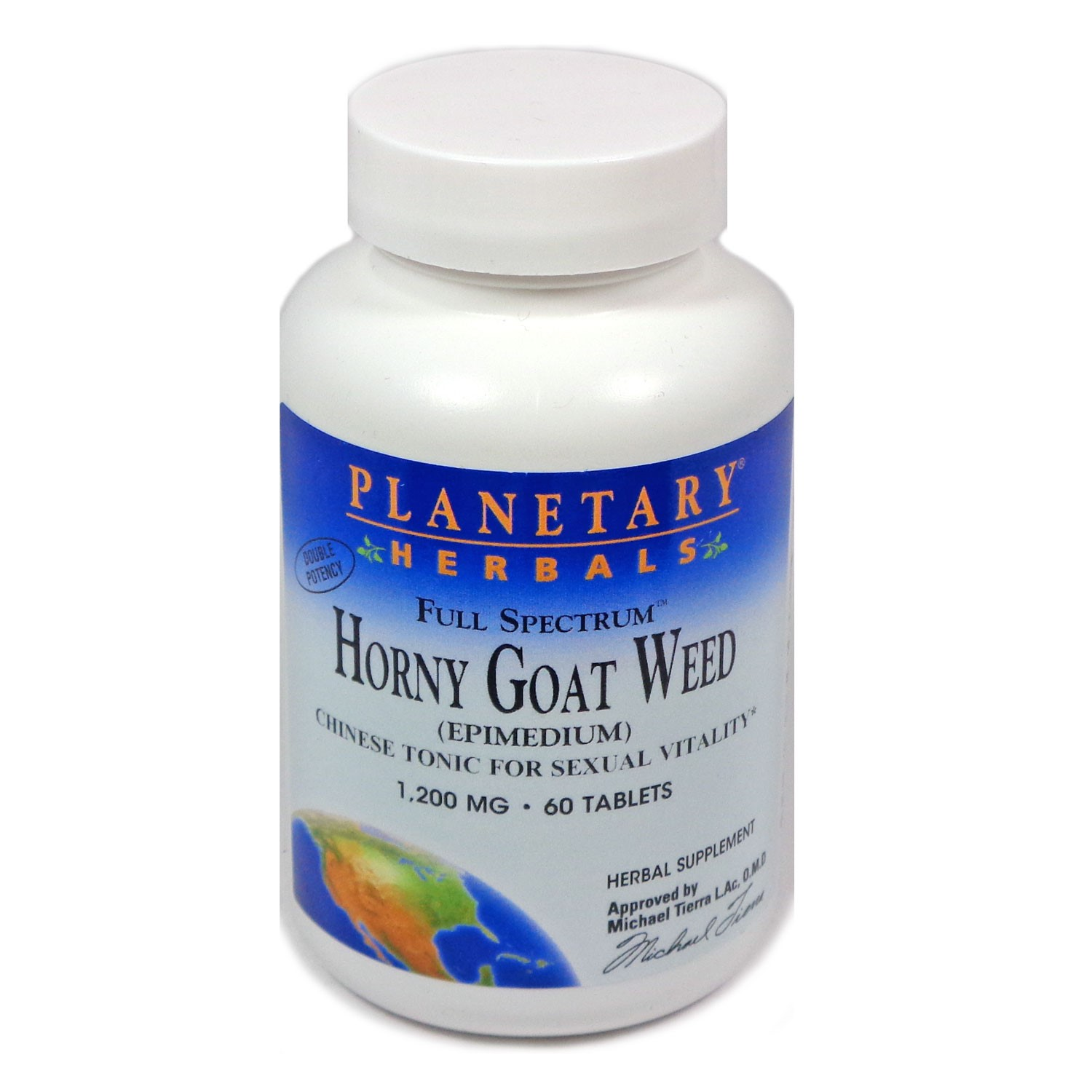 Planetary Herbals Full Spectrum Horny Goat Weed 1200mg, 60 tablets