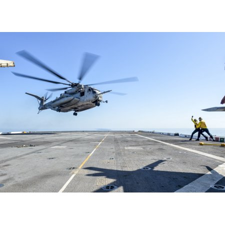 Canvas Print Sailors direct a CH-53E Super Stallion, attached to the Ridge Runners of Marine Medium Tiltrotor squ Stretched Canvas 10 x 14 (Super Runners Shop Coupon)