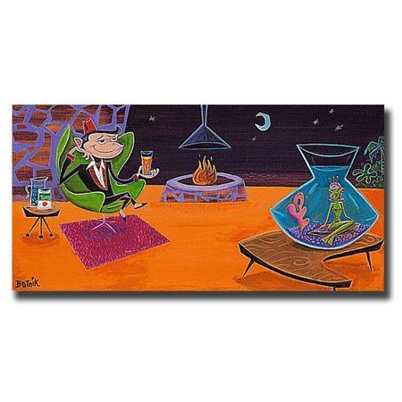 Sea Monkey by Beatnik Premium Gallery-Wrapped Canvas Giclee Art - Ready-to-Hang, 12 x 24 x 1.5 in. - image 1 de 1
