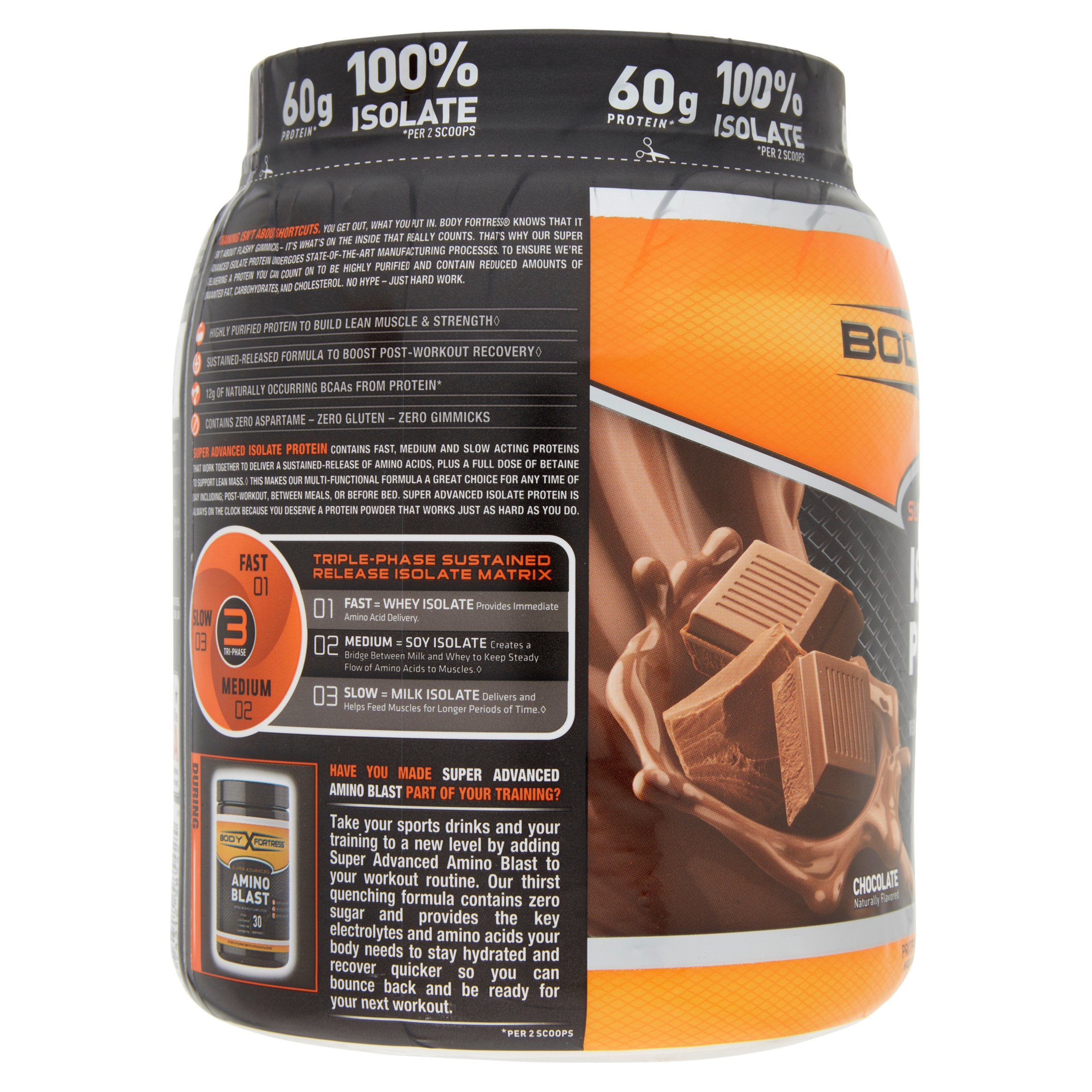 Body Fortress Super Advanced 100% Protein Isolate Chocolate ...