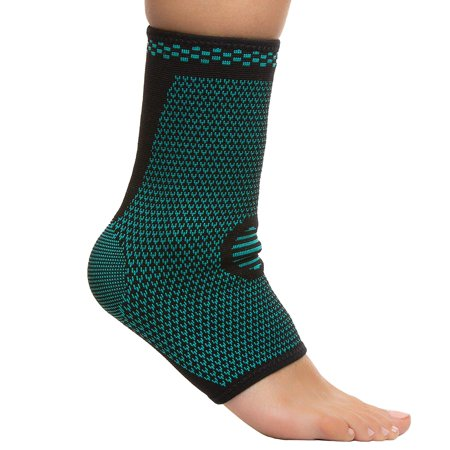 ZenToes Ankle Compression Sleeves - 1 Pair | Support Socks for Ankle Injuries and Swelling, Achilles Heel, Plantar Fasciitis, Joint Pain (Best Compression Ankle Supports)